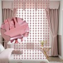 CORTINA DECORATIVA 2X1 MT ESTRELLAS ROSE GOLD