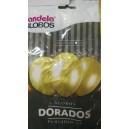 GLOBOS DORADOS X 25U- 30 CMS